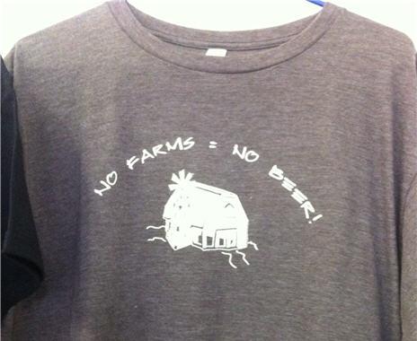 Throwback Brewery men's t-shirt - No Farms No Beer