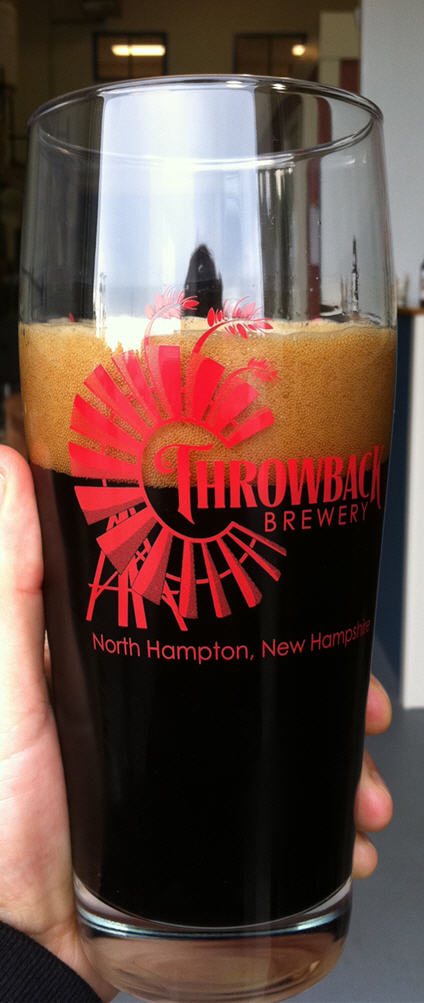 Throwback Brewery pint glass