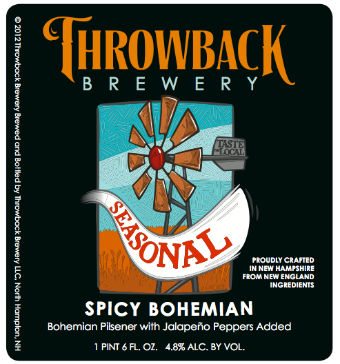 Throwback Brewery's Spicy Bohemian label