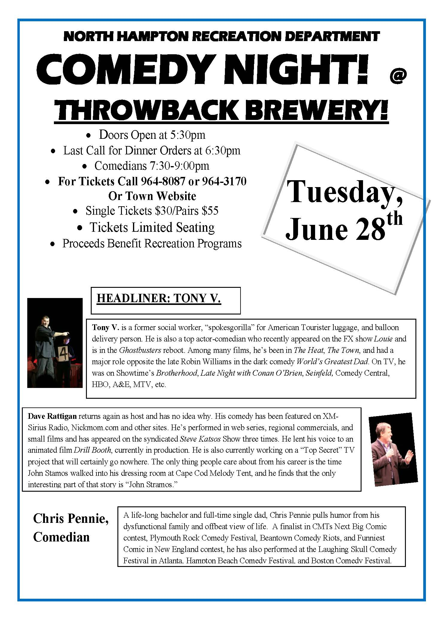 Comedy Night @Throwback – Tuesday, June 28th