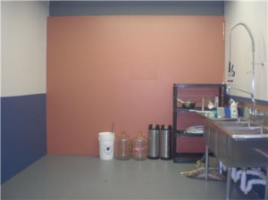Throwback Brewery kitchen painted